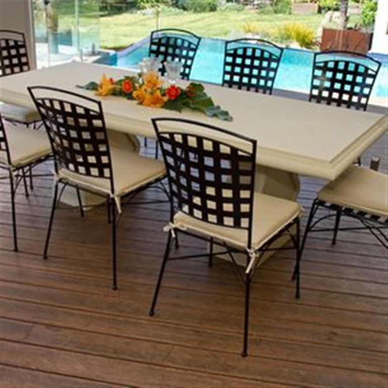 Turin GRC Table with 8 chairs (Medium)